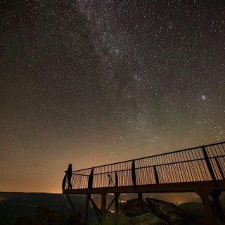 Espectacular foto de Oscar Blanco Varela del mirador de Valdín en A Veiga. Concello De A Veiga Destino Turístico Starlight Trevinca